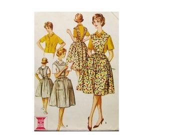 1960s Bib Apron Pattern, Square Neckline, Bust 34, Size 14, McCalls 2429, Vintage Sewing Pattern
