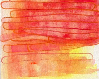 Abstract Painting Reproduction, red, orange, yellow, ombre, Coloring Book Caterpillars