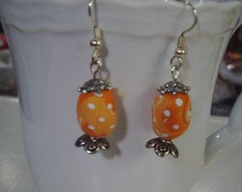 Peach Easter Egg Earrings - Free Shipping
