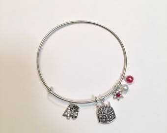 40 th Birthday Expandable Charm Bracelet