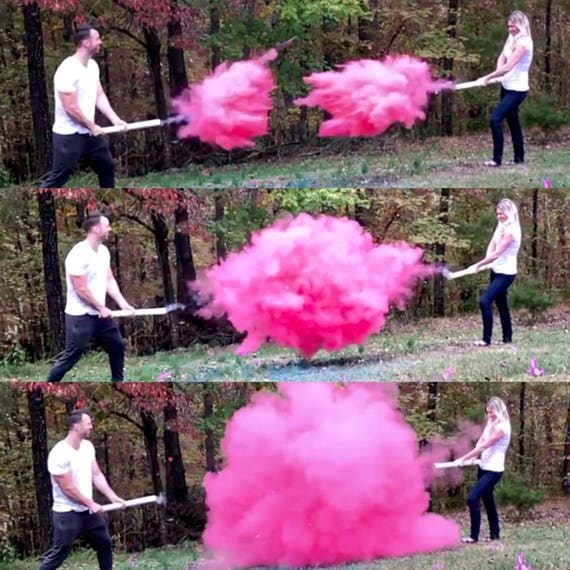 SMOKE POWDER CANNON ™ Ships Same Day! Gender Reveal Smoke Powder Cannons! New Gender Reveal Idea!