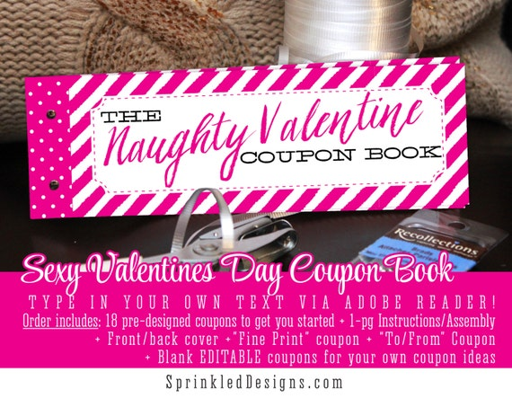 Sexy Valentine Gifts For Him For Her - Naughty Valentine Printable Love  Coupons for Husband Wife Boyfriend Girlfriend, Gift Ideas for Men