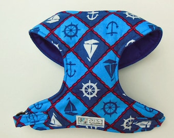Nautical Comfort Soft Dog Harness - Made to Order -.