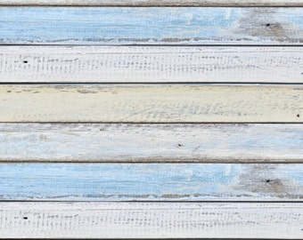 Newborn Photo Background, Vintage Light Blue White Wood Planks Photography Backdrop, Wooden Photoshoot Floordrops, Photography Drops XT-4219