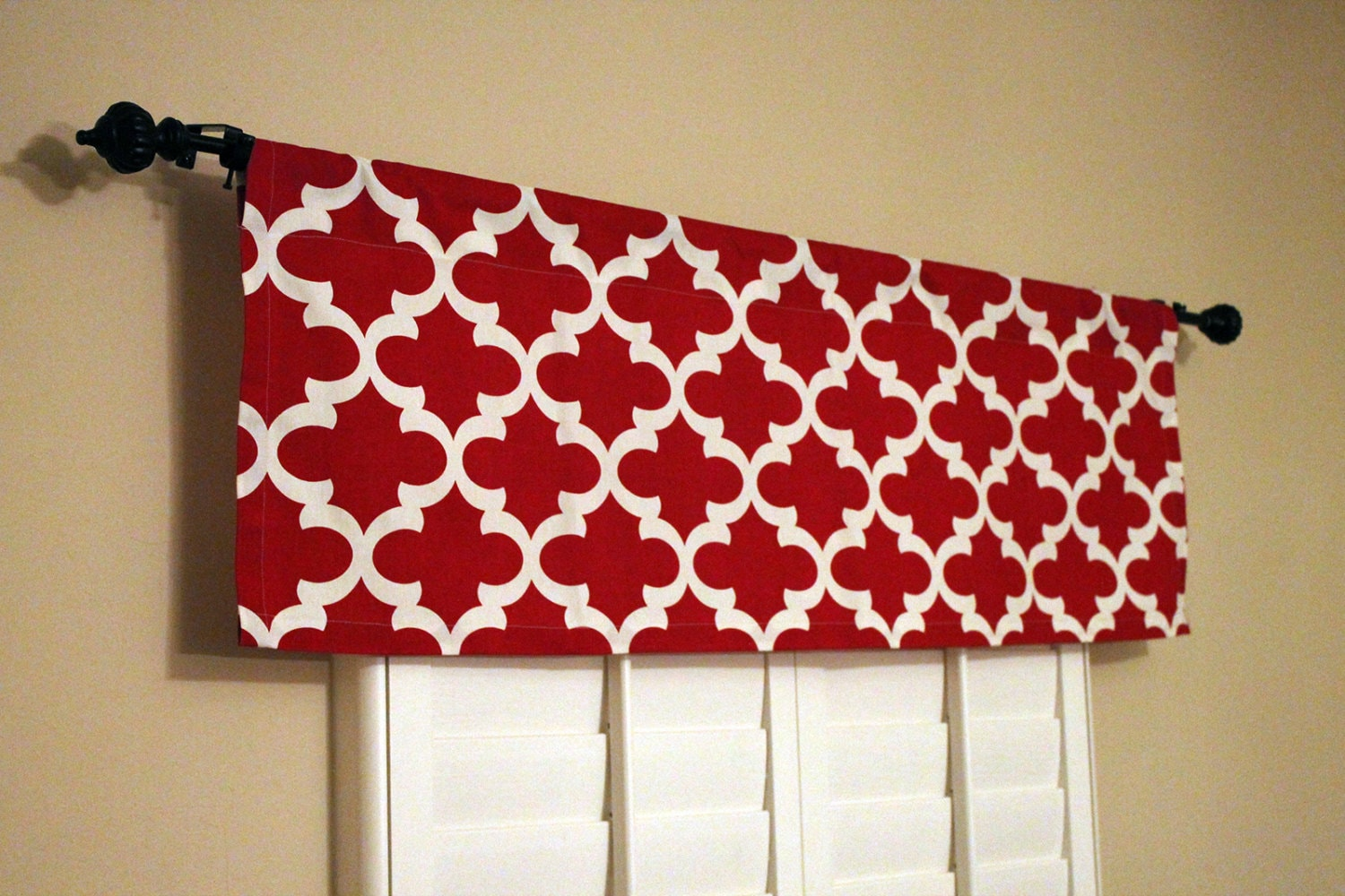 Kitchen Valance Curtains Red Window
