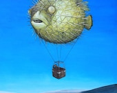 18x24 Pufferfish Hot Air ...