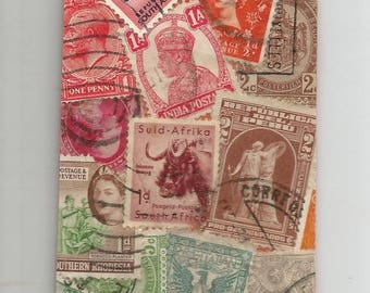 Bookmarks made with old stamps from around the world