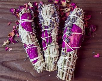 Rose Lavender Sage Smudge