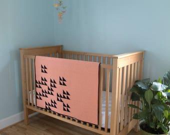 """Modern Baby Quilt """"Birds"""""""