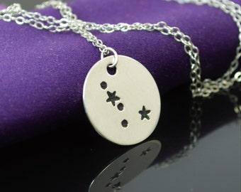 Cancer Pendant, Sterling Silver, Cancer Necklace, Zodiac Jewelry, Horoscope Necklace, Silver Necklace, Cancer Jewelry, Alari, Cancer Zodiac