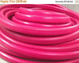 """On Sale NOW 25%OFF 10x6mm Licorice Leather Cord - Dark Pink - 24"""""""
