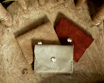 Suede Leather Genuine, Purses/ Wallets, for Credit Cards and Coins, In a Range of Colours, From Orange through to Grey or Yellow