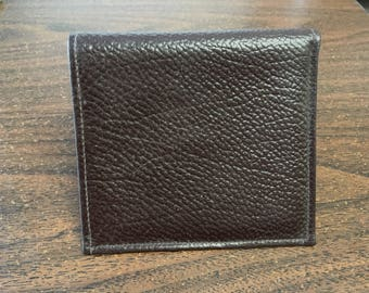 "Vintage 90's  ""Bi FOLD LEATHER WALLET"" by Manhattan -  Brown Credit Card Wallet"
