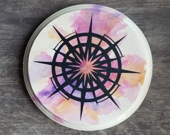 Watercolor Compass Rose