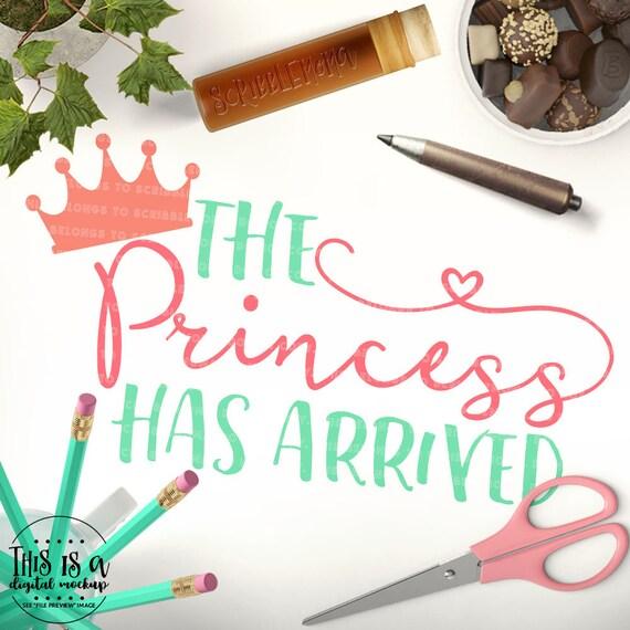 Brand new Princess Has Arrived SVG Baby Girl svg Princess Quote svg AF36