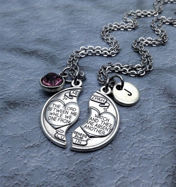 Mizpah necklace couples necklace set genesis 3149 like this item aloadofball Image collections