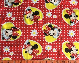 Minnie Mouse tissu imprimé 100 % coton 1/2 Yard