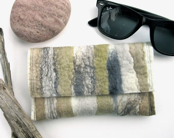 Soft Sunglass Case - Mens Gift Idea - Reading Glass Pouch - Driftwood