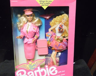 Mattel Vintage 1989 Flight Time Barbie Doll