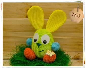 Crochet Easter Bunny, Amigurumi Easter Bunny, Crochet Rainbow Bunny, Rainbow Bunny Toy, Easter Bunny Decor, Handmade Easter Bunny
