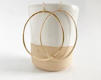 Hoop Earrings, Gold Hoops, Large Hoop Earrings