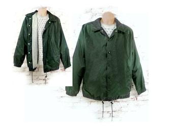 men's spring jacket , men's windbreaker , Men's outer wear ,Men's green jacket , lightweight jacket , lined jacket , # 240