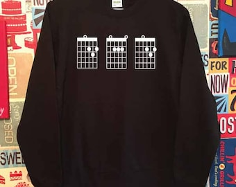 Dad Guitar Chords Sweatshirt. Guitar Dad Sweatshirt. Dad Sweatshirt. Dad Gift. Father's Day Sweater.