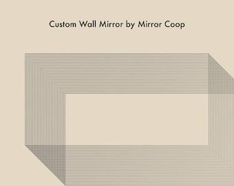 "Custom 36"" Mosaic Style Wall Mirror"