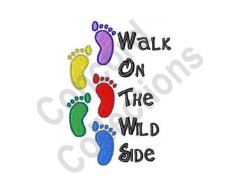 Footprints- Machine Embroidery Design, Walk On The Wild Side - Machine Embroidery Design