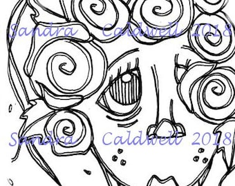 2224 Rosie Rose Digi Stamp