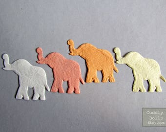25 pieces Multi color Die Cut Elephants Flat Paper Mulberry For Card Scrapbooking Crafts Supply Decorations Scrap Booking