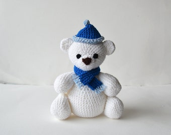 Polar Bear Crochet Pattern, Bear Amigurumi Pattern, Crochet Polar Bear Pattern, Crochet Bear Amigurumi Pattern
