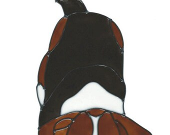 Beagle Faux Stained Glass Window Cling