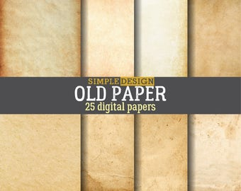 Old digital paper. Vintage paper. Old paper digital. Distressed paper. Rustic digital paper. Grungy digital paper. Kraft paper.