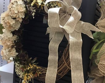 Hydrangea Wreath, Grapevine Wreath, Year Round Wreath, Year Round Decor, White Flowers, Front Door Wreath, Hydrangeas, White Hydrangea,