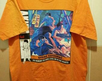 Vintage Akira Otomo Katsushiro Japanese Anime T Shirt Rare