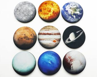Planets Coasters Set Nine astronomy science space gift home dorm decor teacher student earth solar system geekery stocking stuffer nerd sky