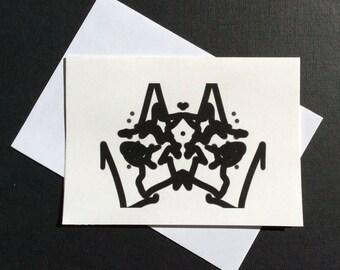Mouse Rorschach Card
