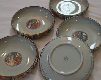 Set of 5 Japanese Porcelain Plates - Made In Japan