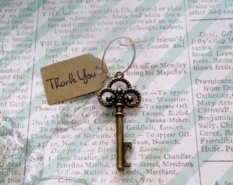 Wedding Favors- Key Bottle Openers Favor- Skeleton Key- Vintage Wedding- Party Favors- Bridal Shower Favors- SET OF 12