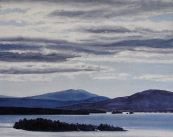 Art Print - Rangeley Lake in February