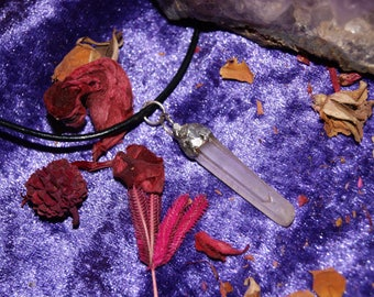 Raw Quartz Crystal soldered necklace