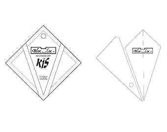 "Bloc-Loc -  Kite in A Square Ruler 6"" x 6"" - Quilting Tool"