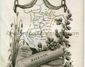 1823 Perrot Map of MAYENN...