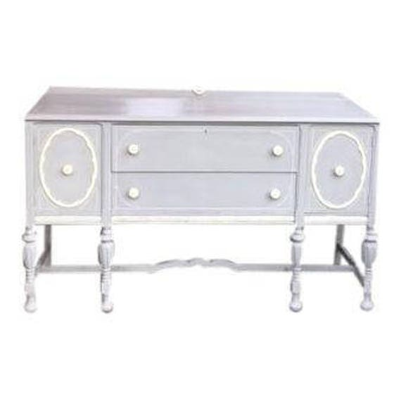 Side board server console restored & pianted Shaby chic 1950's