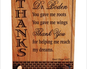 Mentor Gifts-Gift for Mentor Teacher-Personalized Appreciation-Thank You Mentor Gift-Teacher Gift Ideas-End of Year Teachers Plaque- PLT017