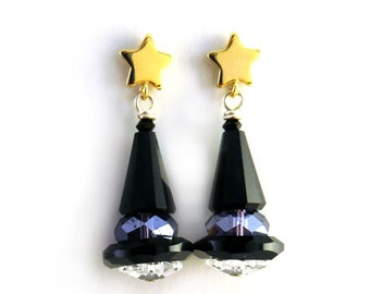 Halloween Witches Hat Earrings - CLEARANCE 75% OFF