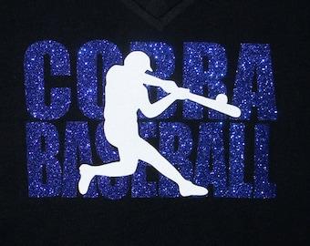 Baseball Team Shirt - Cobra Baseball shown - Customize for your team! Knock out design baseball tshirt