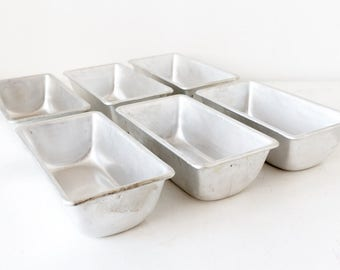 Vintage loaf pan Cake pan Baking molds Baking supply - set of 6