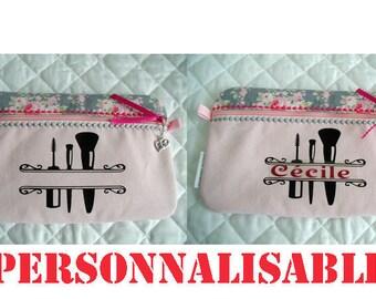 Makeup Bag flat for the bag (Pink)